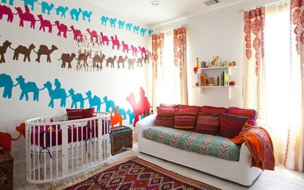babyzimmer gestalten kamele
