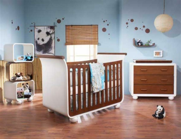 babyzimmer gestalten panda motiv