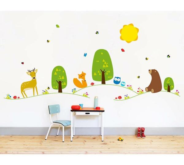 Kinderzimmer gestalten tiere  Wandtattoo Baby Tiere | Badezimmer Ideen 2012