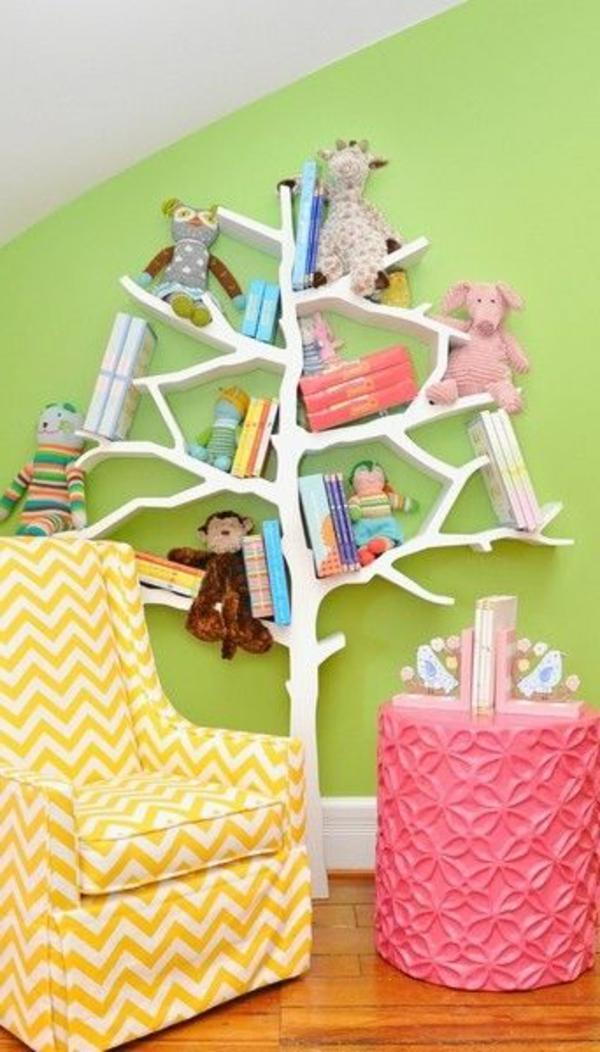 Baby Zimmer Gestalten Wandregal Baum