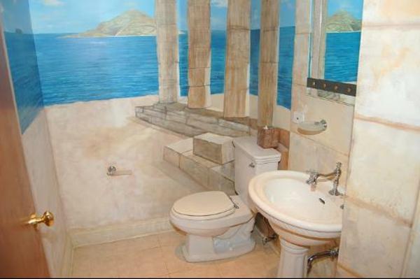 badezimmergestaltung badezimmerfliesen 3d wandmalerei