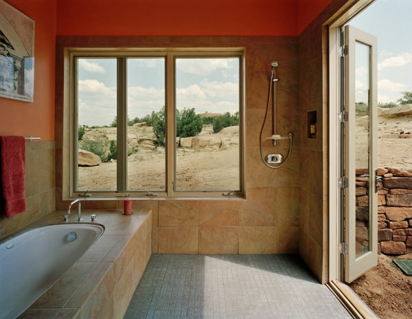 badezimmer gestaltung badezimmerfliesen naturfarben