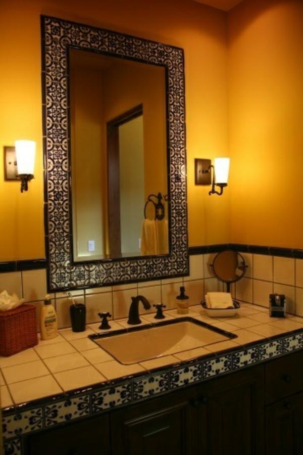 badezimmer gestaltung badezimmerfliesen ornamenten