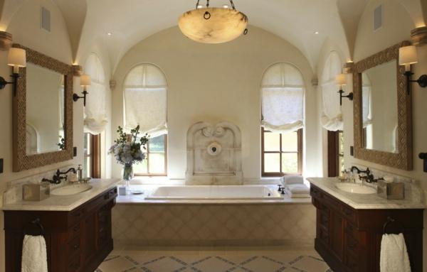 badezimmergestaltung badezimmerfliesen pendelleuchte