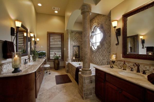 badezimmergestaltung badezimmerfliesen säule