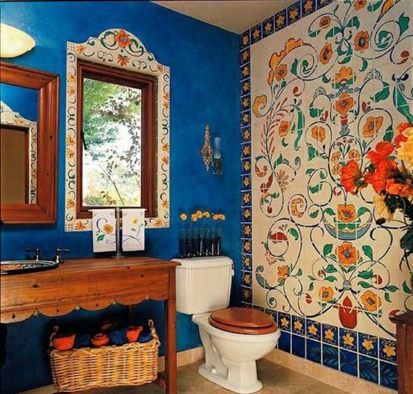 Badezimmergestaltung wie sie ihr bad im mediterranen for Badezimmer wanddekoration