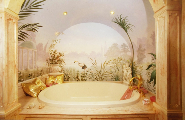 Badezimmergestaltung Badgestaltung Ideen Goldene Kissen Home Design Ideas