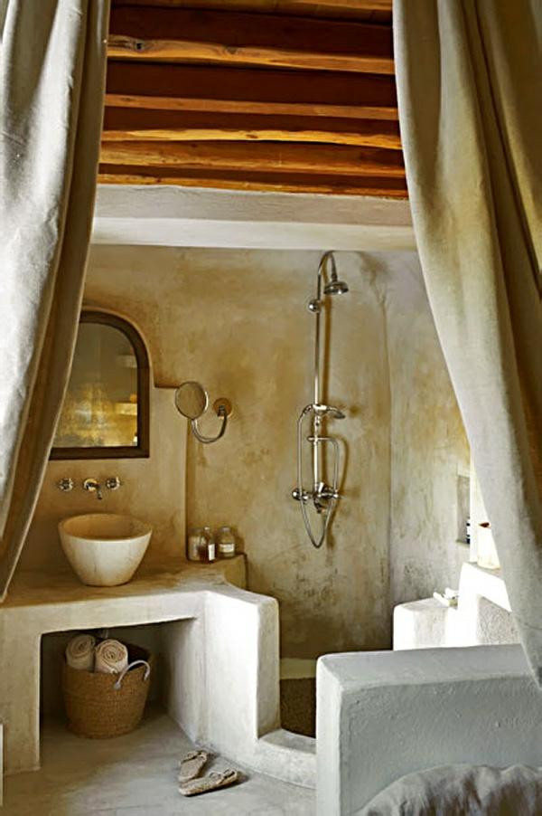 badezimmergestaltung badgestaltung ideen offene deckenbalken