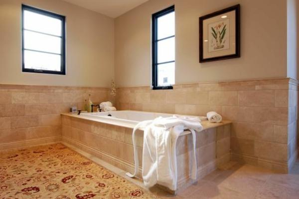 badezimmergestaltung badgestaltung ideen perserteppich