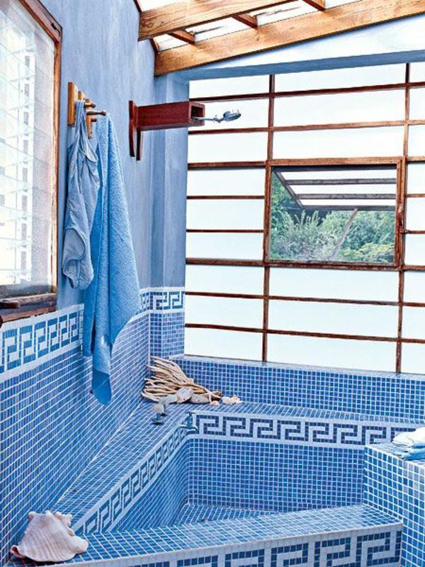 badezimmer gestaltung mosaik türkis badgestaltung ideen