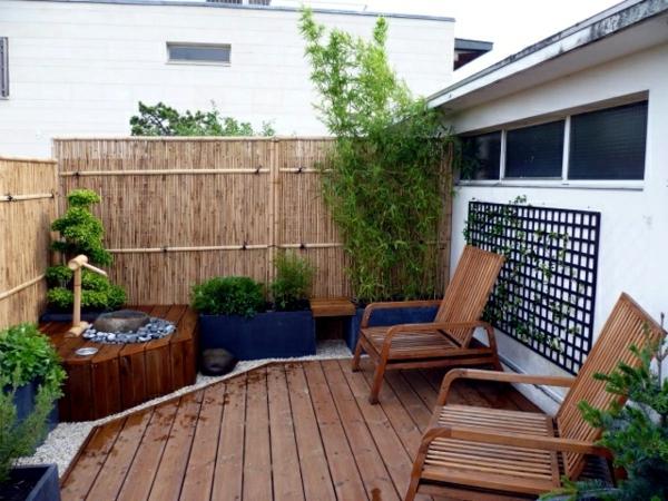 balkon bepflanzen balkonpflanzen bambus