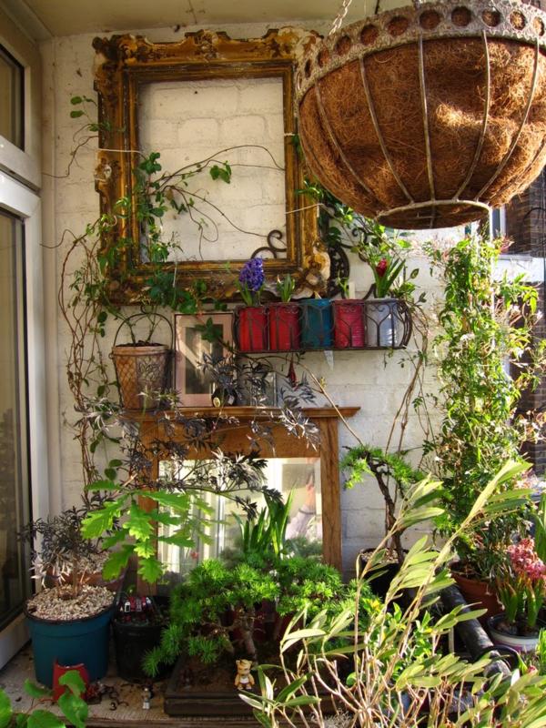 balkon bepflanzen hängepflanzen bonsai