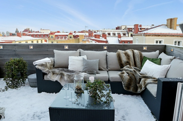 Gartenmobel Polyrattan Lounge : balkon einrichten terrassengestaltung bilder wintergarten rattanmöbel