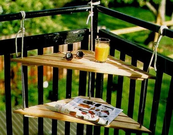balkongestaltung ideen praktische balkonmöbel balkontisch