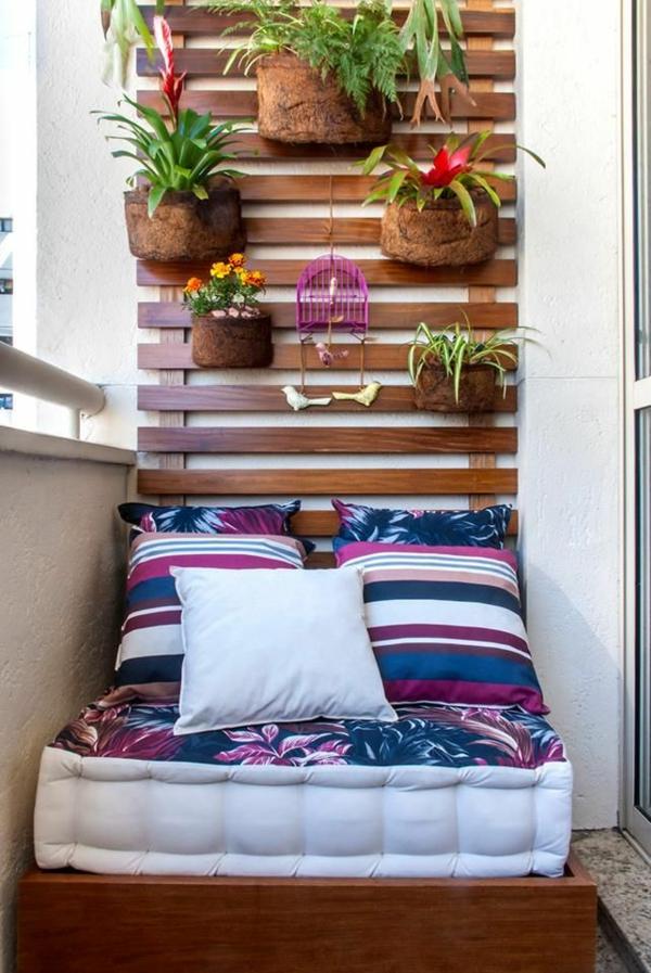 balkonideen platzsparende balkonmöbel balkonpflanzen