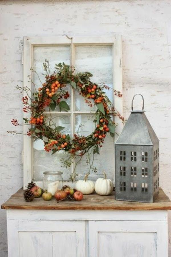 bastelideen für Fenster Weihnachtsdeko laternen