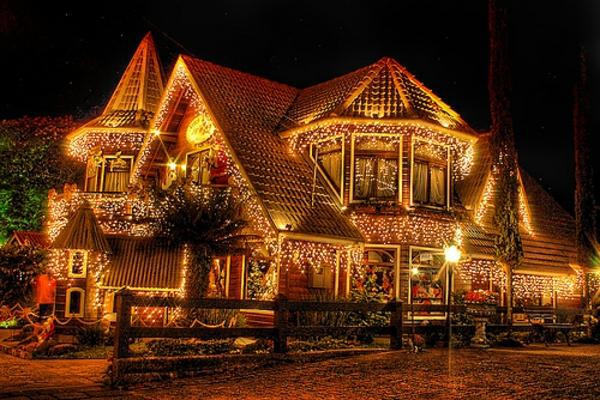 deko leuchten haus bastelideen für Fenster Weihnachten
