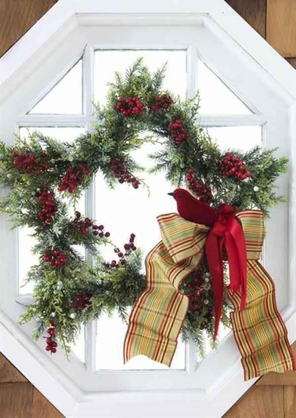 bastelideen für Fenster Weihnachten deko stern
