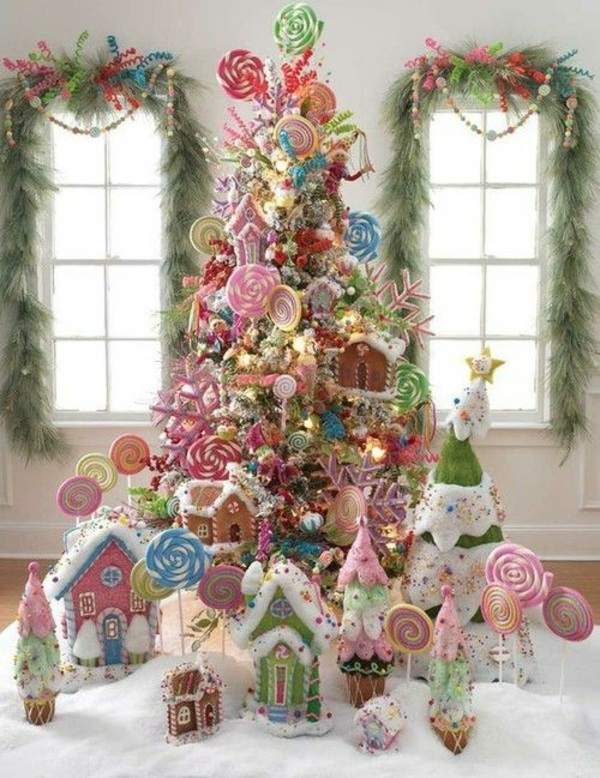 bastelideen für Fenster Weihnachten deko tannenbaum