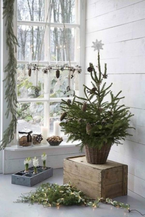 bastelideen für Fenster Weihnachten dekoration toll