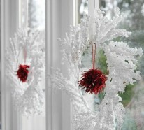 35 Bastelideen für Fenster Weihnachtsdeko