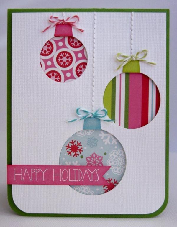 1001 ideen weihnachtskarten basteln tolle for Giant christmas card ideas