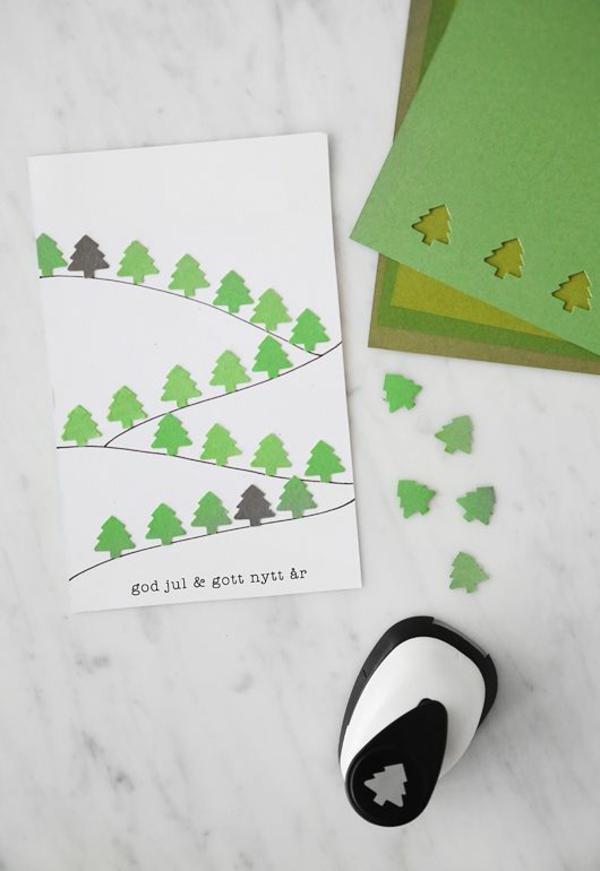 1001 ideen weihnachtskarten basteln tolle. Black Bedroom Furniture Sets. Home Design Ideas
