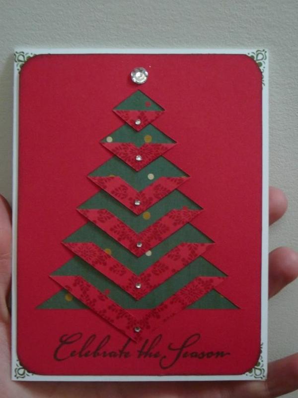 bastelideen für weihnachten weihnachtskarten selber basteln christmasbaum