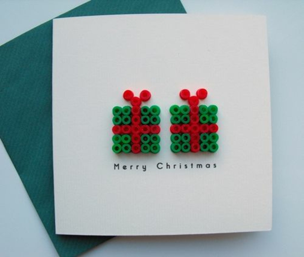 bastelideen für weihnachten weihnachtskarten basteln geschenke aus knöpfen