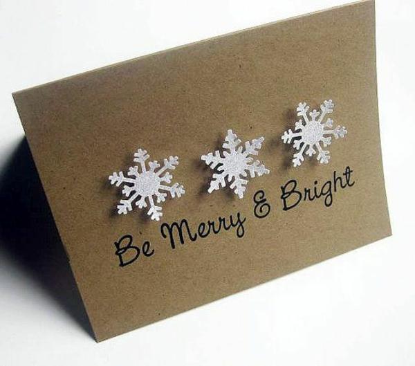 bastelideen für weihnachten weihnachtskarten basteln schneeflöckchen