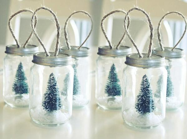 bastelideen weihnachten basteltipps einweckgläser tannenbäume