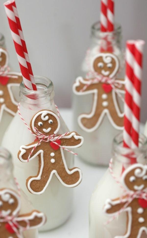 bastelideen weihnachten lebkuchen plätzchen schneemännchen