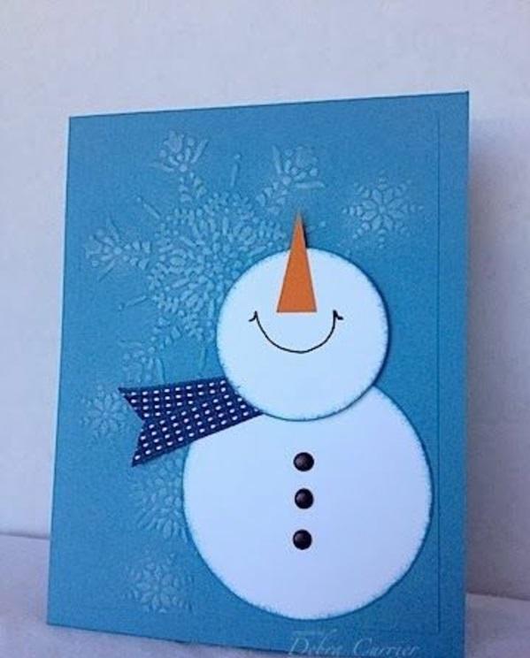 bastelideen weihnachten schneemann weiß