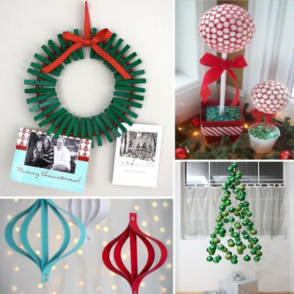 bastelideen weihnachten weihnachtliches basteln