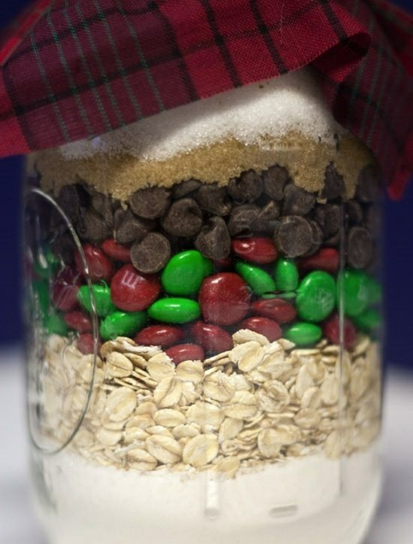 bastelideen zu weihnachten glas bonbons