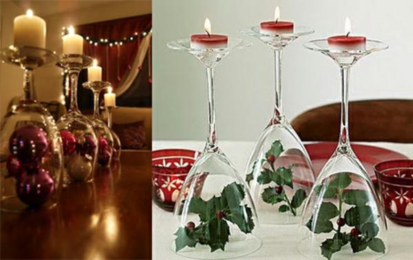 bastelideen zu weihnachten kerzen gläser