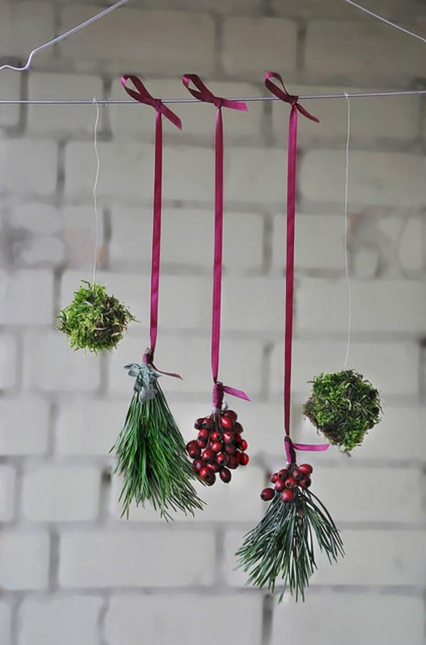 bastelideen weihnachten kleiderbügel metall