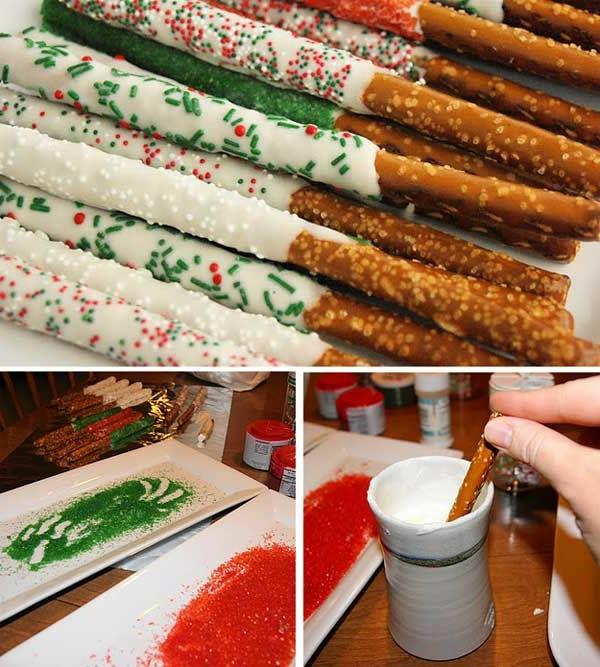 bastelideen zu weihnachten salzstangen