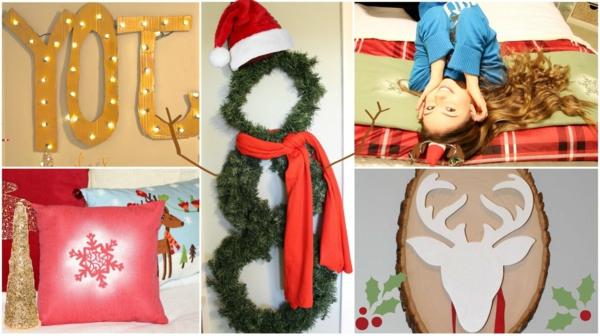 bastelideen weihnachten schneeman weihnachtshut