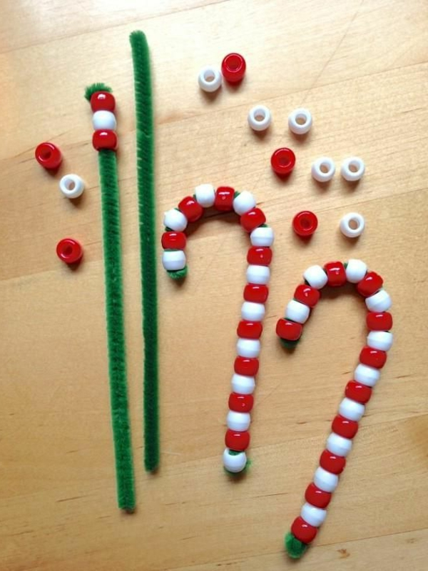 Candy Canes And Pipe Cleaner Christmas Crafts