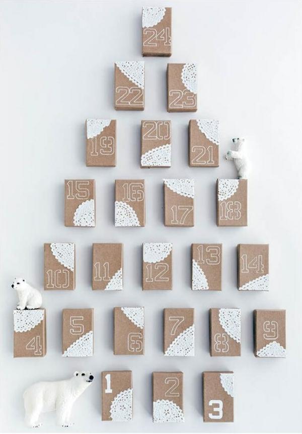 1001 adventskalender selbst gestalten bastelideen f r weihnachten. Black Bedroom Furniture Sets. Home Design Ideas