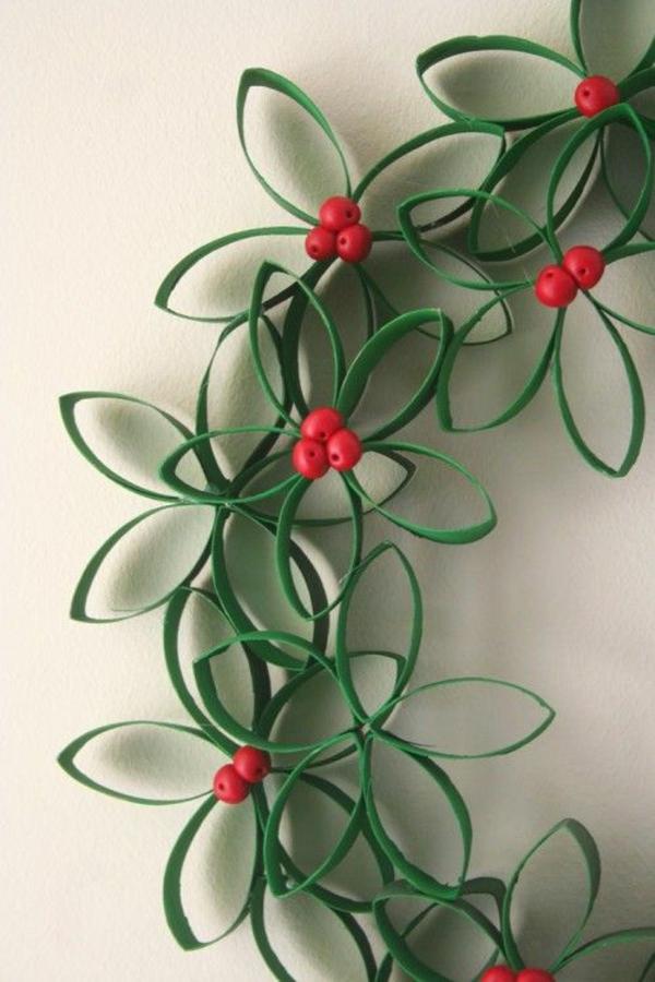 basteltipps weihnachten weihnachtsschmuck wanddeko ideen