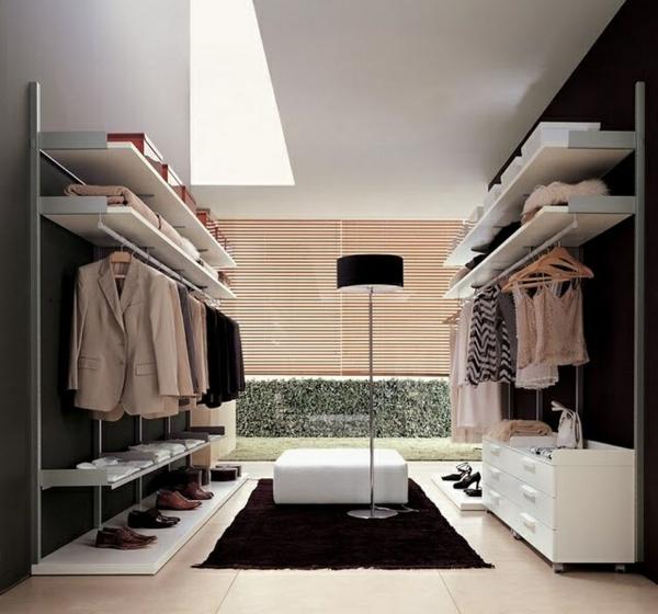 begehbarer kleiderschrank ideen ankleidezimmer holzplatten