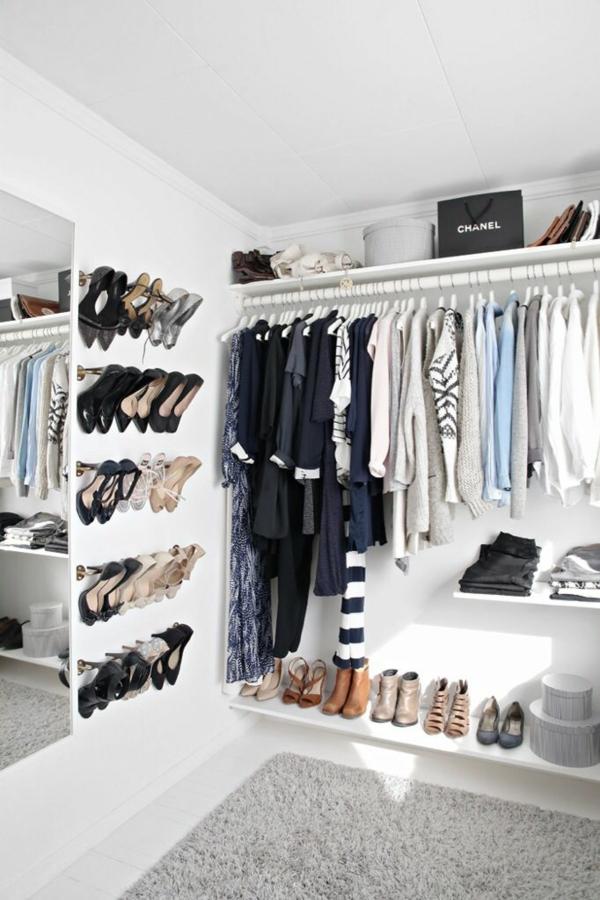 begehbarer kleiderschrank ideen ankleidezimmer kleiderständer