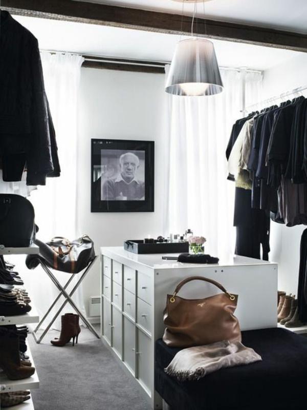 begehbarer ideen ankleidezimmer weiß kleiderschrank