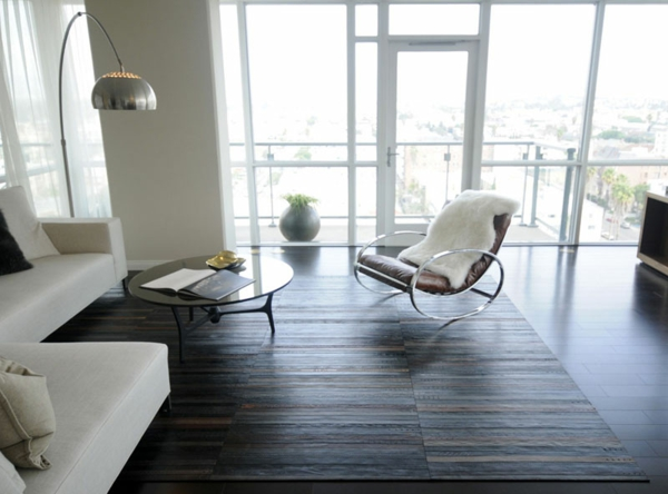 bodenbelag ledergürtel wandgestaltung wohnzimmer