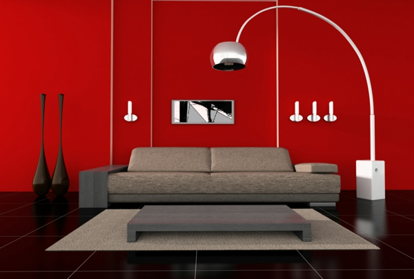 bodenlampen stehlampen design standleuchten wohnzimmer modern einrichten