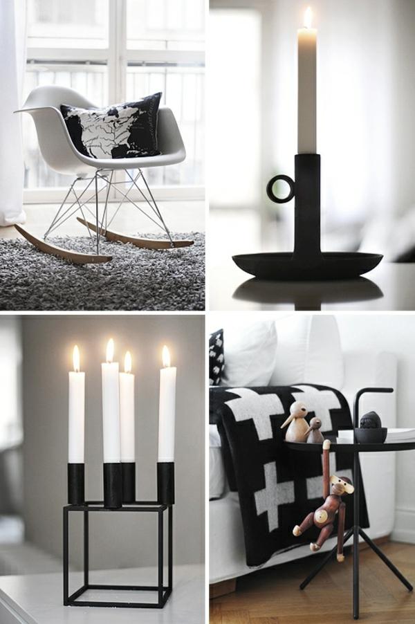 dänisches design skandinavische deko mit kerzen