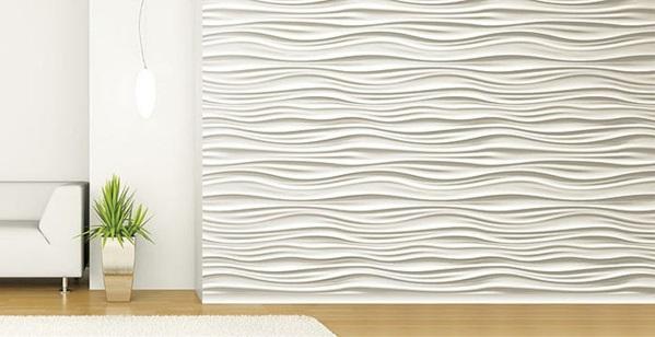 dekor streichputz auftragen wände verputzen kreative wandgestaltung 3d wellen