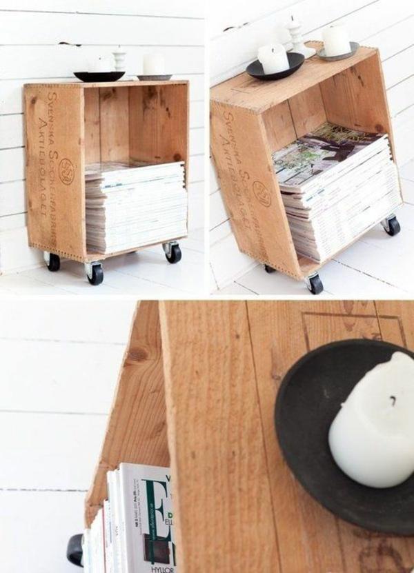 holzregal bauen oder einfach kaufen - verschiedene holzmöbel-modelle - Holzmobel Wohnzimmer